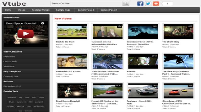 Vtube - Advanced WordPress Video Theme - Webostock Marketplace