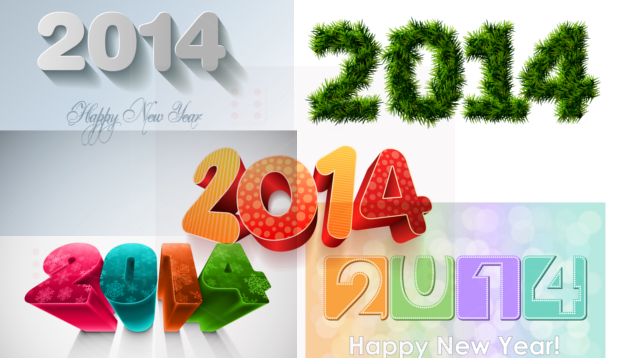 New Year 2014 Stock Vectors